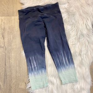 Calvin Klein Performance Capri Leggings Blue Grey
